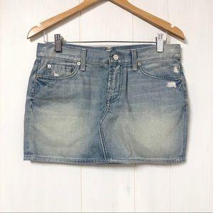 7 For All Mankind Roxanne Denim Mini Skirt